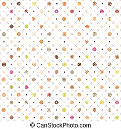 Seamless vector pattern: Christmas garland on a white background