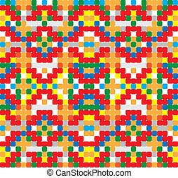 Seamless vector pattern - cross-stitch style