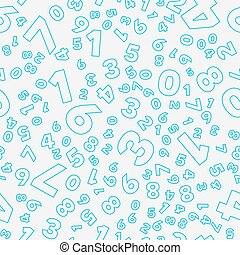 Seamless vector pattern - different numbers