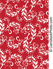 seamless, vector, pattern., floral