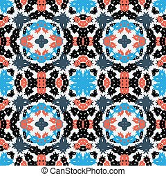 Seamless vector pattern in retro style