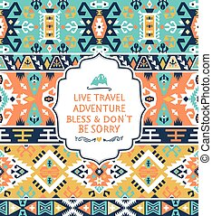 Seamless vector pattern in tribal style