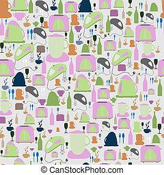 Seamless vector pattern. Kitchen/food background