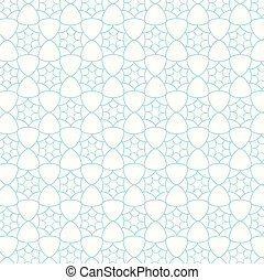 seamless vector pattern lines with wavy, floral background