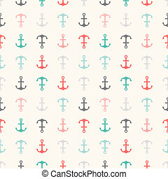 Seamless vector pattern of anchor shapes. Endless texture...