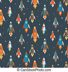 Seamless vector pattern of colorful