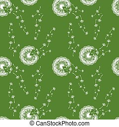 seamless vector pattern of dandelions