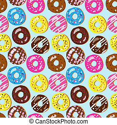 Seamless vector pattern of donuts