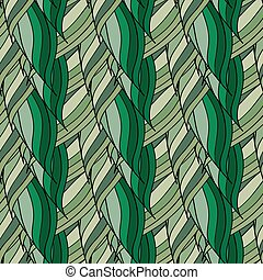 Seamless vector pattern of interwoven leaves.