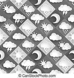 seamless vector pattern of weather