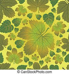 Seamless vector pattern - Seamless vector autumn leaves...