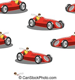 sports car - seamless vector pattern sports car illustration...