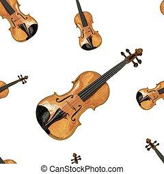 Seamless VECTOR pattern: violins