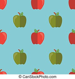 seamless vector pattern with apples