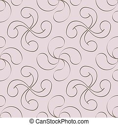 Seamless vector pattern with Basque cross Lauburu for your design
