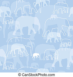 Vector Pattern with Elephants