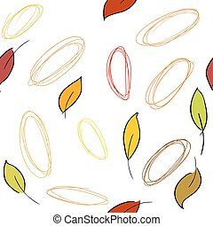 Seamless vector pattern with fall leaves
