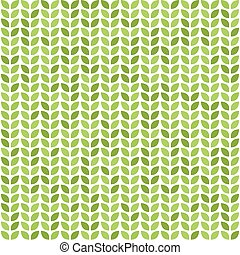 Seamless vector pattern with green leaves
