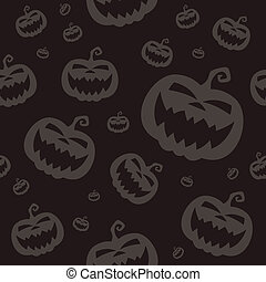 Vector Pattern with Halloween Pumpkins