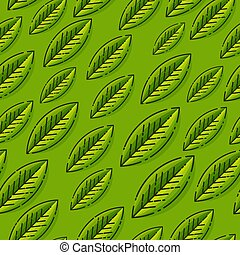 Seamless vector pattern with leafs. Template for wallpapers, site background, print design, cards, menu design, invitation. Summer and autumn theme. Vector illustration.