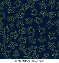 Seamless vector pattern with linden