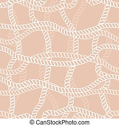 Seamless vector pattern with marine rope
