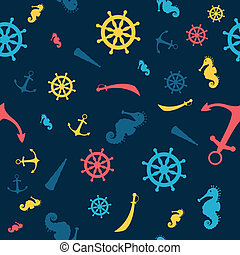 Vector Pattern with Nautical Elements