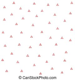 Seamless vector pattern with pink glitter scribble triangles
