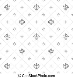 Seamless Vector Pattern With Royal Lilies
