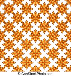 Seamless vector pattern with star anise spice. Vector ...