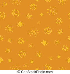 Vector Pattern with Sun Icons