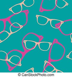 Seamless vector pattern with sunglasses