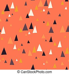 Seamless vector pattern with triangle mountains in...