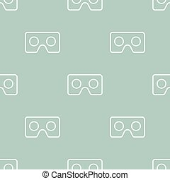 Seamless Vector Pattern With VR Logos - Seamless vector...