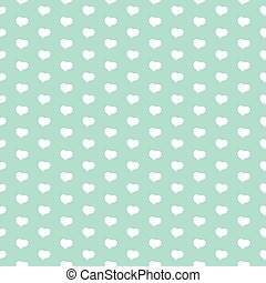 Seamless vector pattern with white heart.