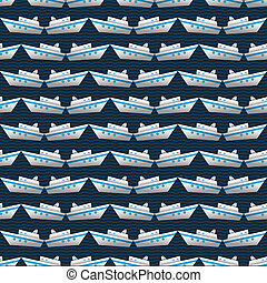Seamless  vector pattern with yachts