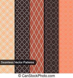 Seamless vector patterns. Ornamental set.