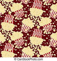 Seamless vector popcorn background - Seamless vector falling...