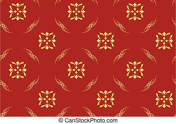 seamless vector red geometrical pattern