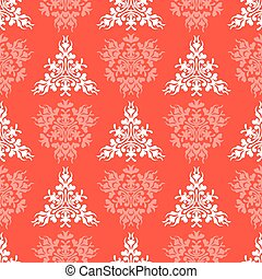 Seamless vector red textile pattern