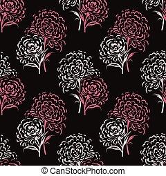 Seamless vector rose flower pattern design