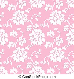 Seamless vector rose flower pattern