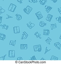 Seamless vector school pattern.