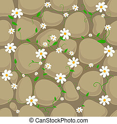 Seamless - Vector seamless pattern with stones and...