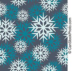 Seamless vector snowflakes