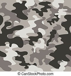 Seamless vector square camouflage pattern grey - Seamless...