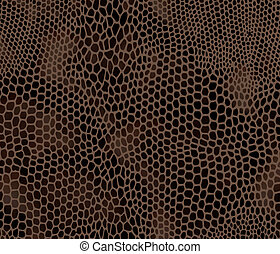 Seamless vector structured snake skin in black and brown...