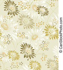 Seamless vector sunflower background