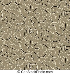 Seamless vector swirly flower pattern