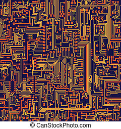 Seamless vector texture - circuit board